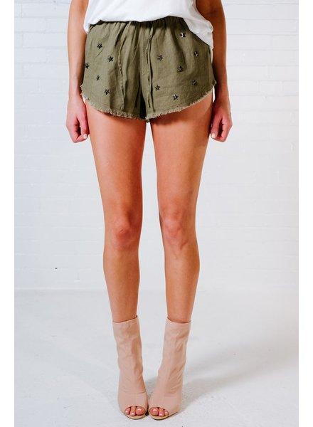 Shorts Linen metal star shorts