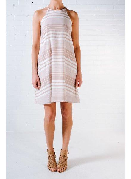 Casual Rose striped aline dress