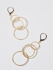 Dressy Interlocked hoop earrings