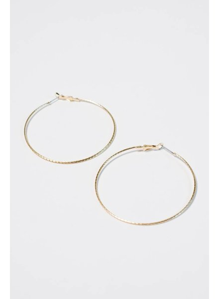 Gold Gold rope hoop earring