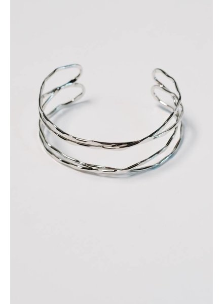 Silver Hammered silver cuff