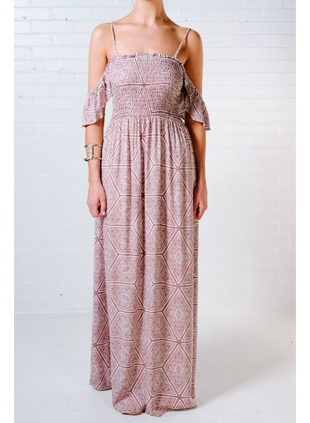 Maxi Aztec drop sleeve maxi dress