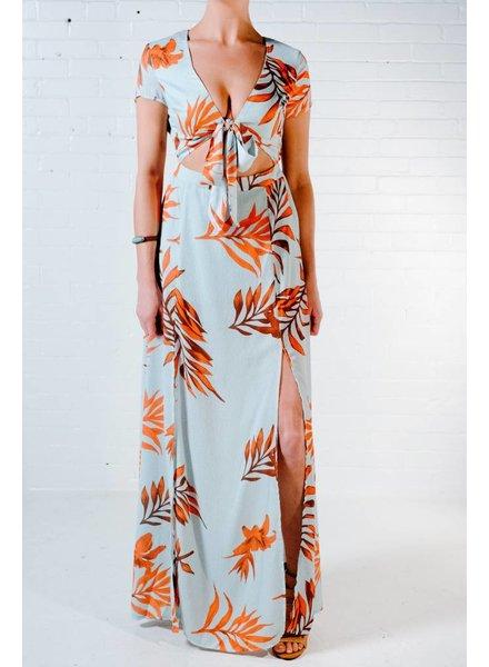 Maxi Backless Hawaiian maxi dress