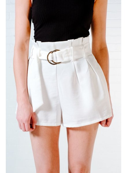 Shorts Pleated buckle shorts