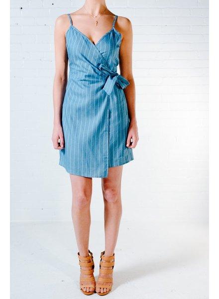 Casual Denim wrap dress