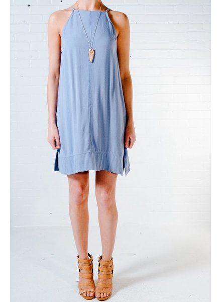 Casual Cross strap back V dress