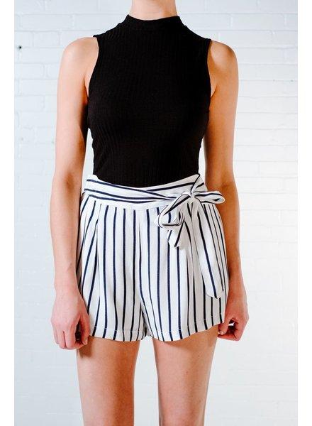 Shorts Striped tie waist shorts