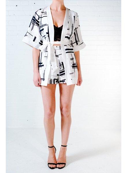 Blazer Line print blazer