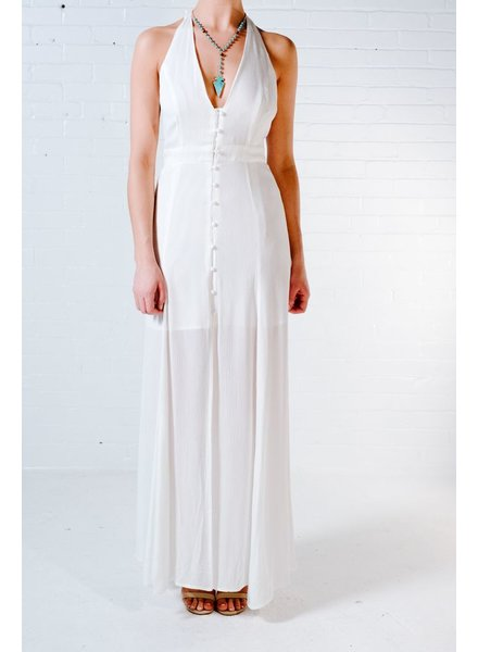 Long Front button maxi dress