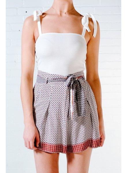 Shorts Cross front printed skort
