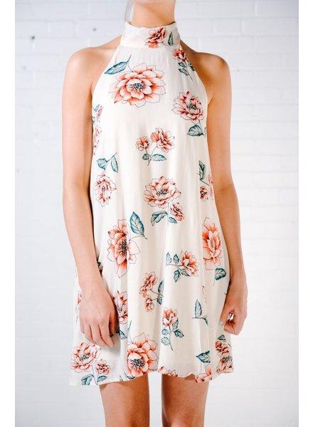 Mini Low back floral halter