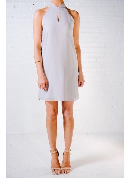 Mini Silver halter dress