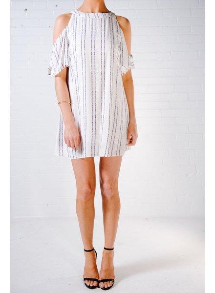 Shift Tie cold shoulder printed dress