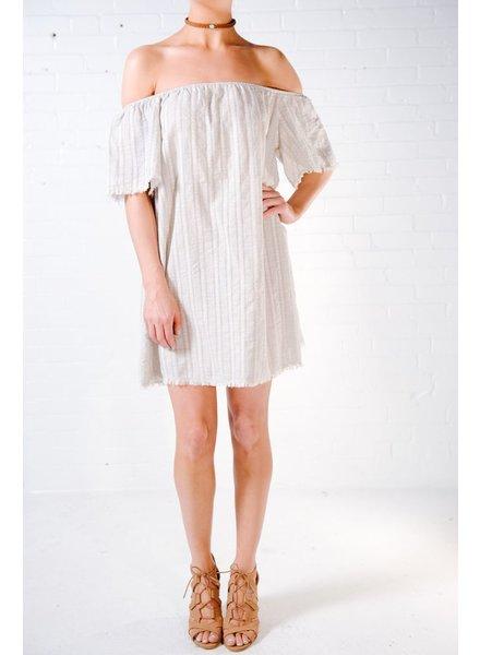 Casual Fray hem OTS dress