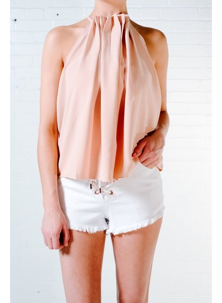 Tank Pleated neck tank