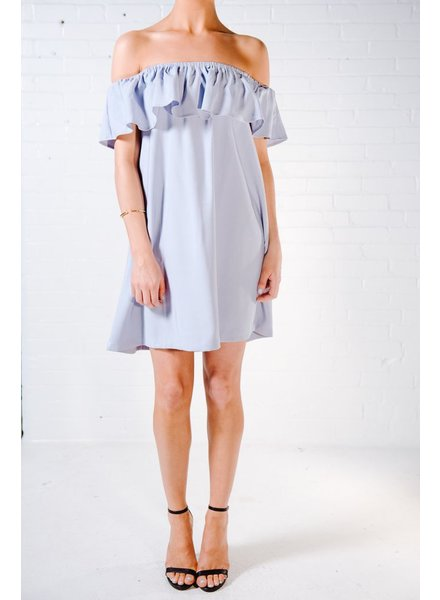 Shift Off-the-shoulder ruffle dress