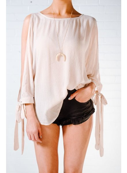 Blouse Gold metallic thread blouse
