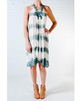 Casual Tie dye wrap dress
