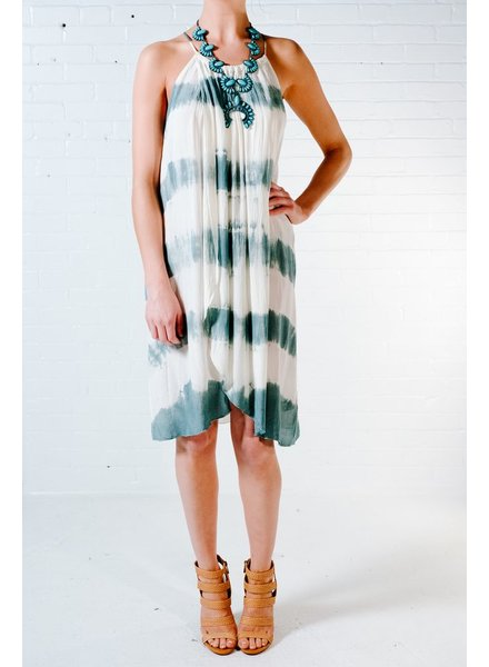 Casual Tie dye wrap dress