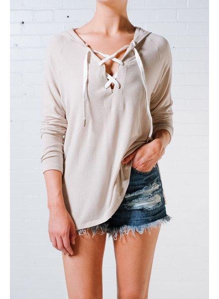Sweatshirt Lace-up hoodie