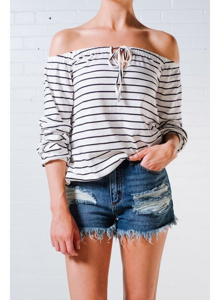 Casual Striped OTS top