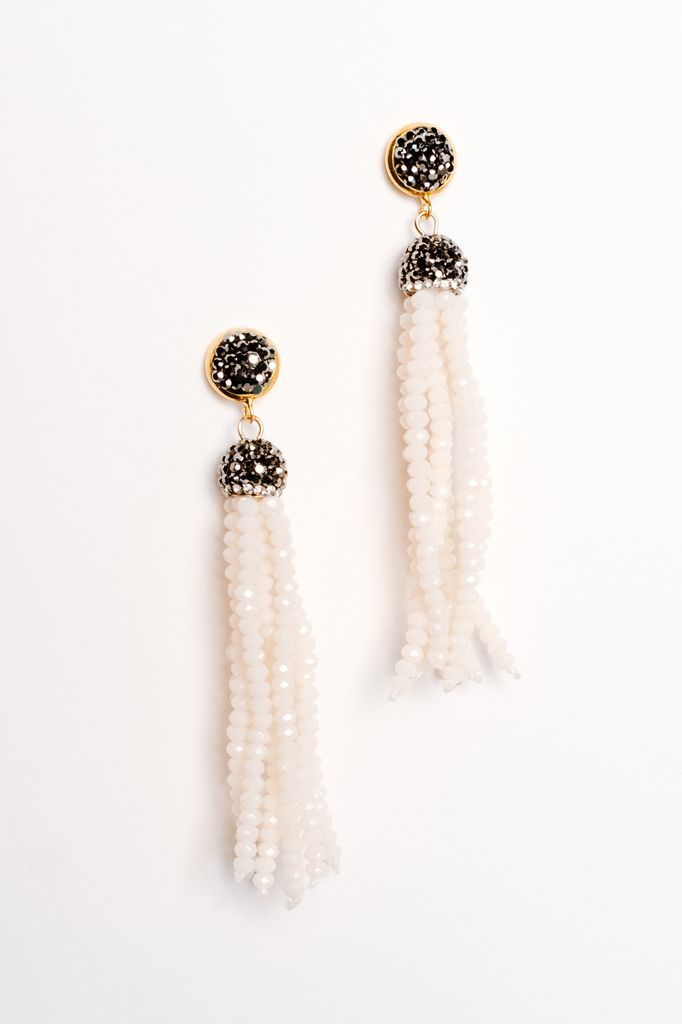 Trend Dressy beaded tassel earring