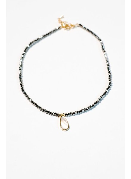 Choker Beaded pearl-like choker