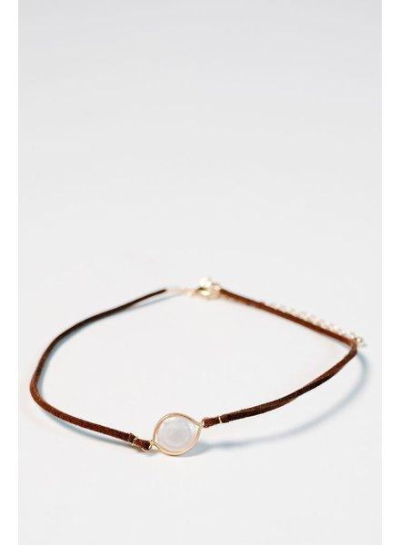 Choker Pearl-like brown choker