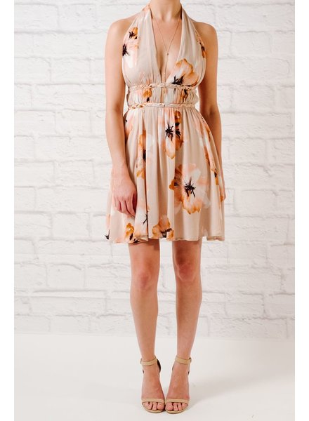 Halter Floral braided halter dress