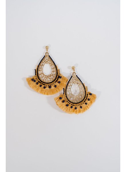 Trend Beaded fringe earrings