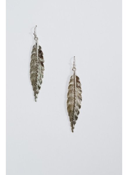 Silver Silver feather earrings