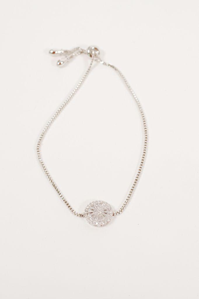 Silver Dainty silver pull bracelet