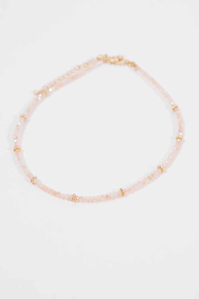 Choker Iridescent beaded choker