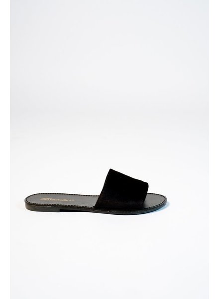 Sandal Black velour slide