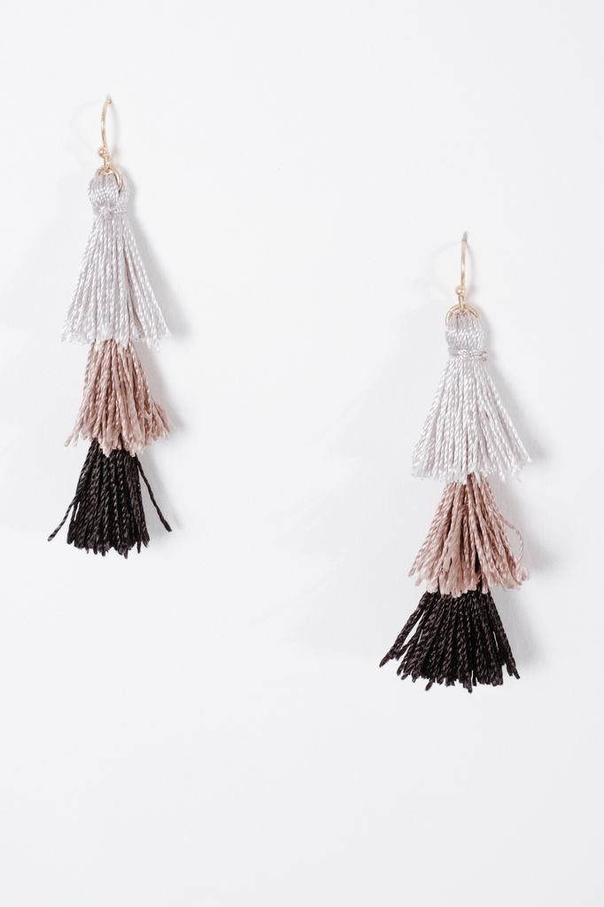 Trend 3 tier tassel earrings