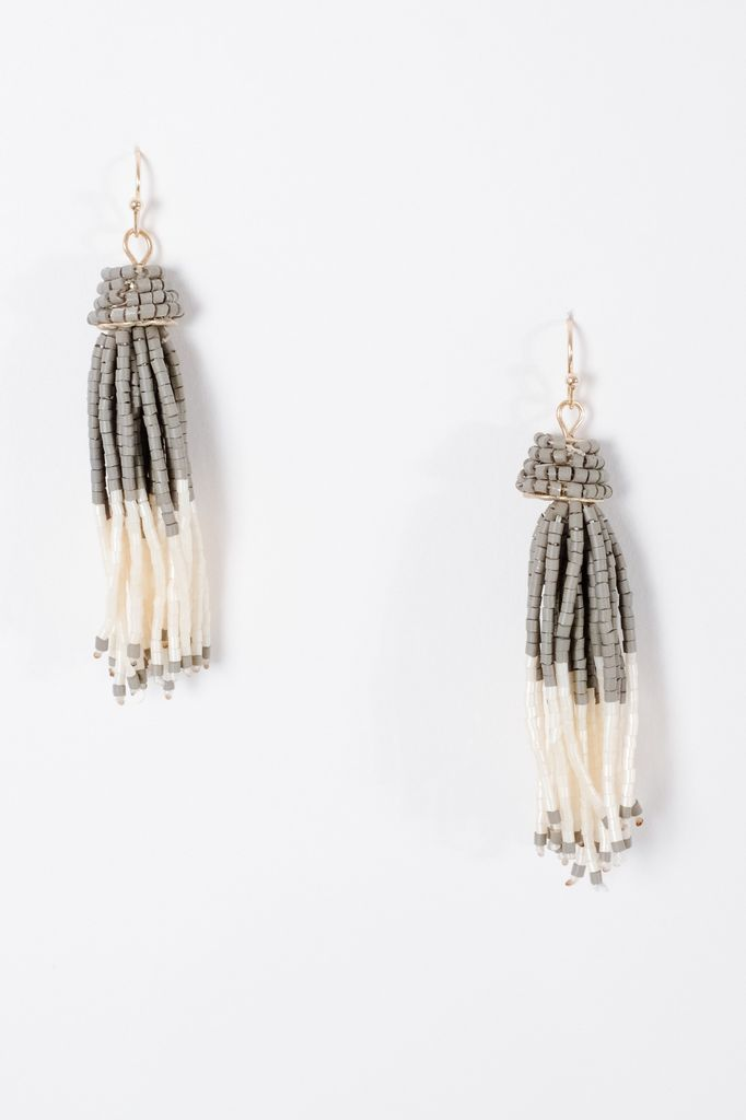 Trend Matte beaded tassel earrings