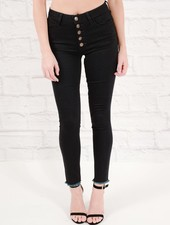 Jeans Button fly dark wash skinny jeans