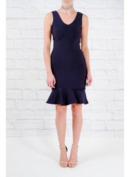 Dressy Heavy bodycon drop ruffle dress