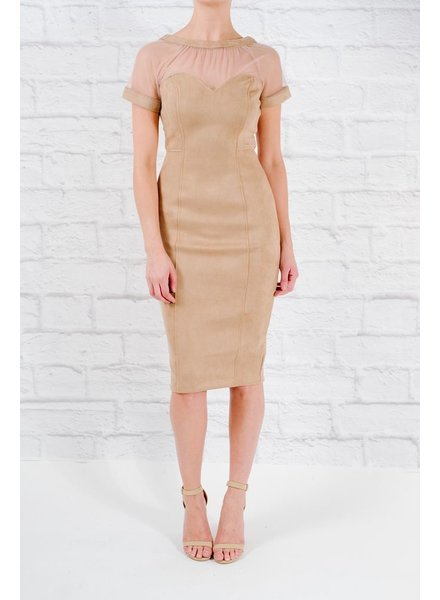 Midi Suedey illusion dress
