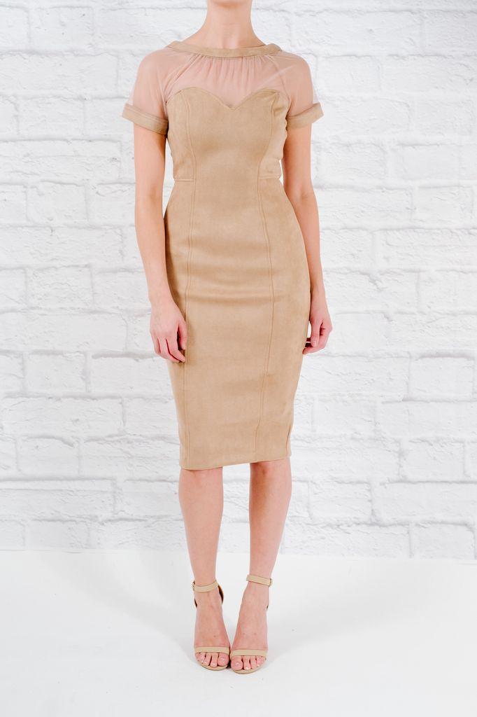 Midi Suedey illusion dress