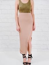 Skirt Mocha high slit maxi skirt