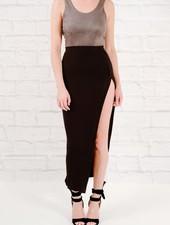 Skirt Black high slit maxi skirt