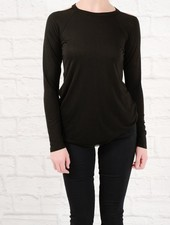 Long Black cold shoulder top