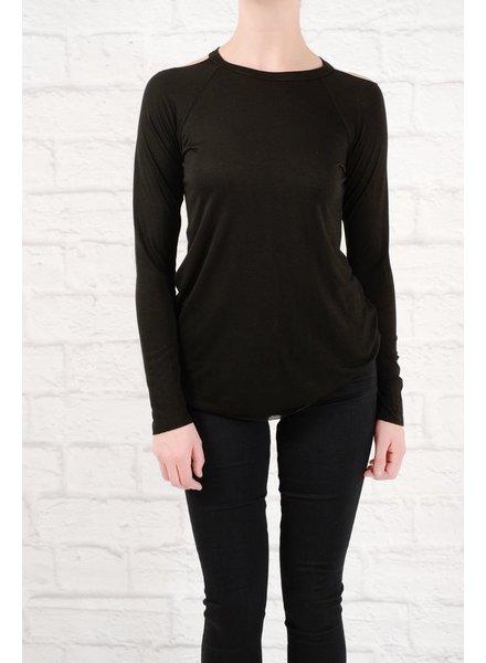 Long Black cold shoulder top