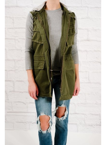 Vest Hooded army vest