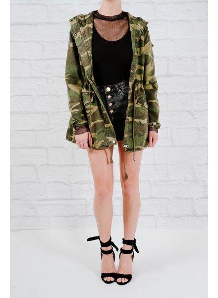 Lightweight Hooded cammo jacket