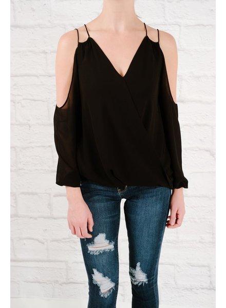 Blouse Black double strap blouse