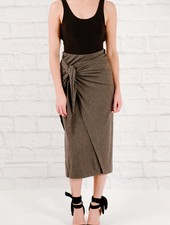 Skirt Jersey tie midi