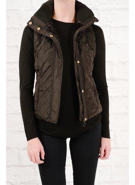 Vest Hooded puffer vest