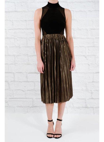 Skirt Olive accordian midi skirt